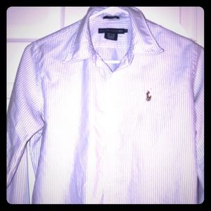 Ralph 🐎Lauren Slim Fit Polo Striped Button Down
